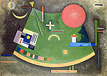 Wasily Kandinsky, Arrow Towards the Circle (Oil on canvas)